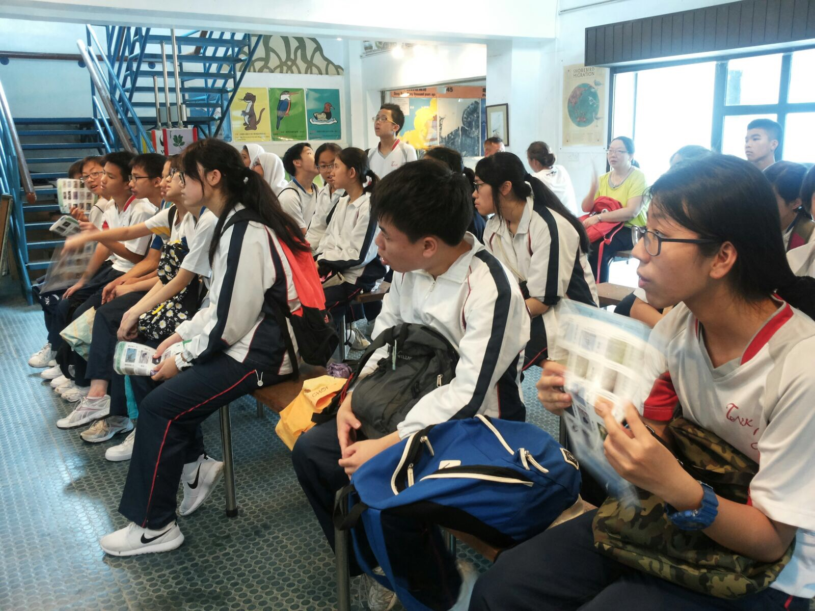 Students were very attentive in the briefing session.
