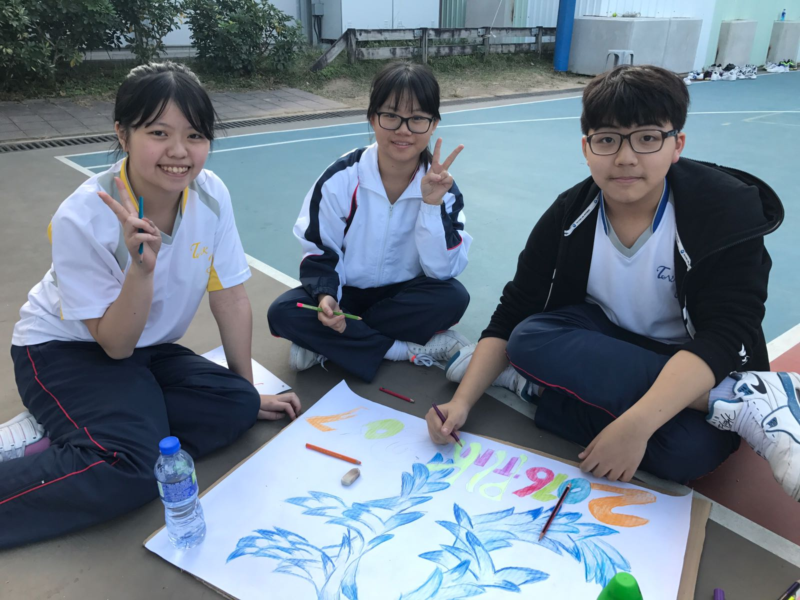Students use their creativity to design their class flag.