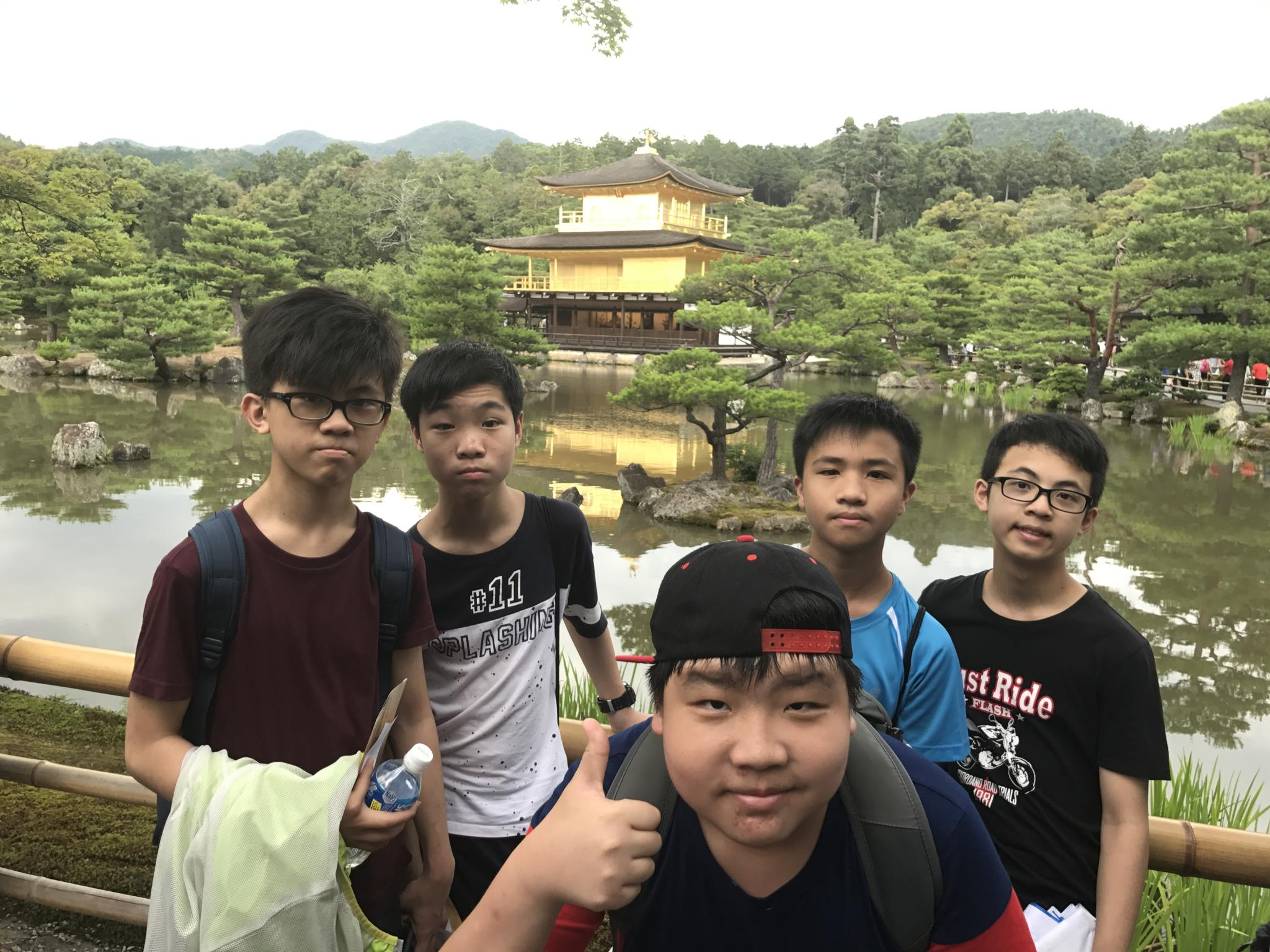 Students like the view at the Golden Pavilion.