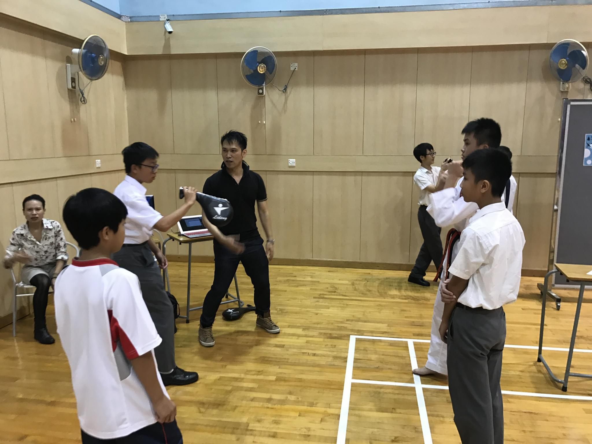 Students showed their interest in the Taekwondo Class.