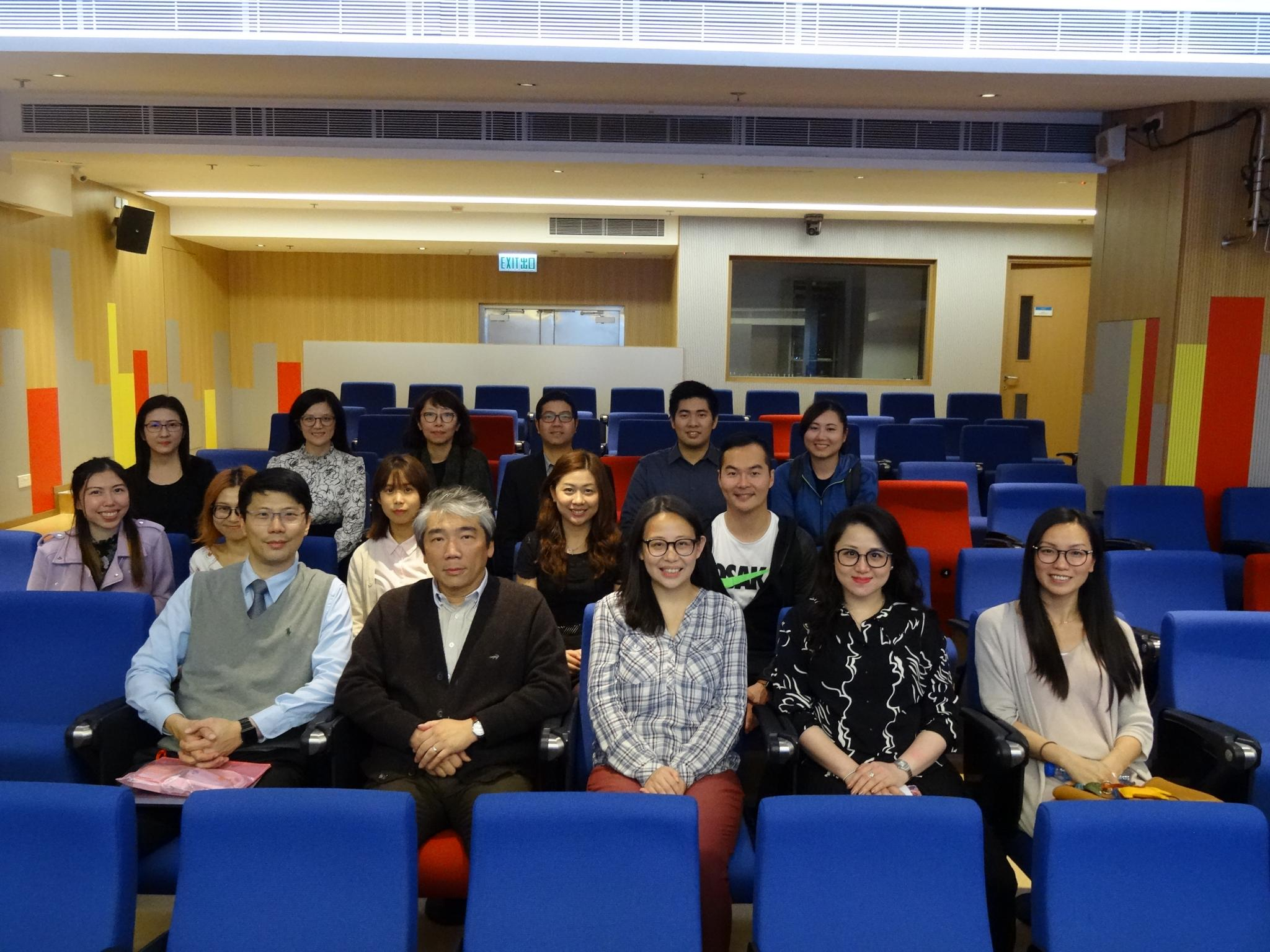 A group photo of the guest Principal and teachers.