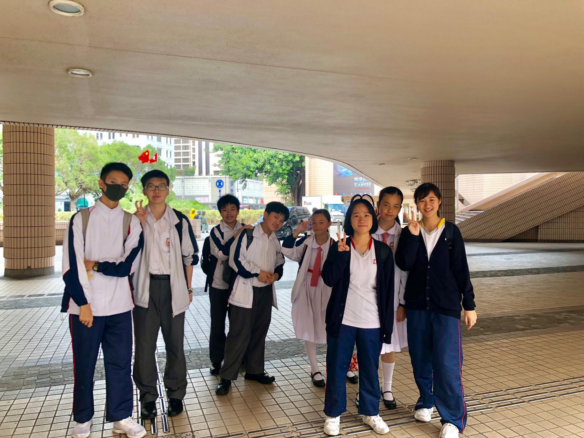 The students arrived the Hong Kong Cultural Centre.