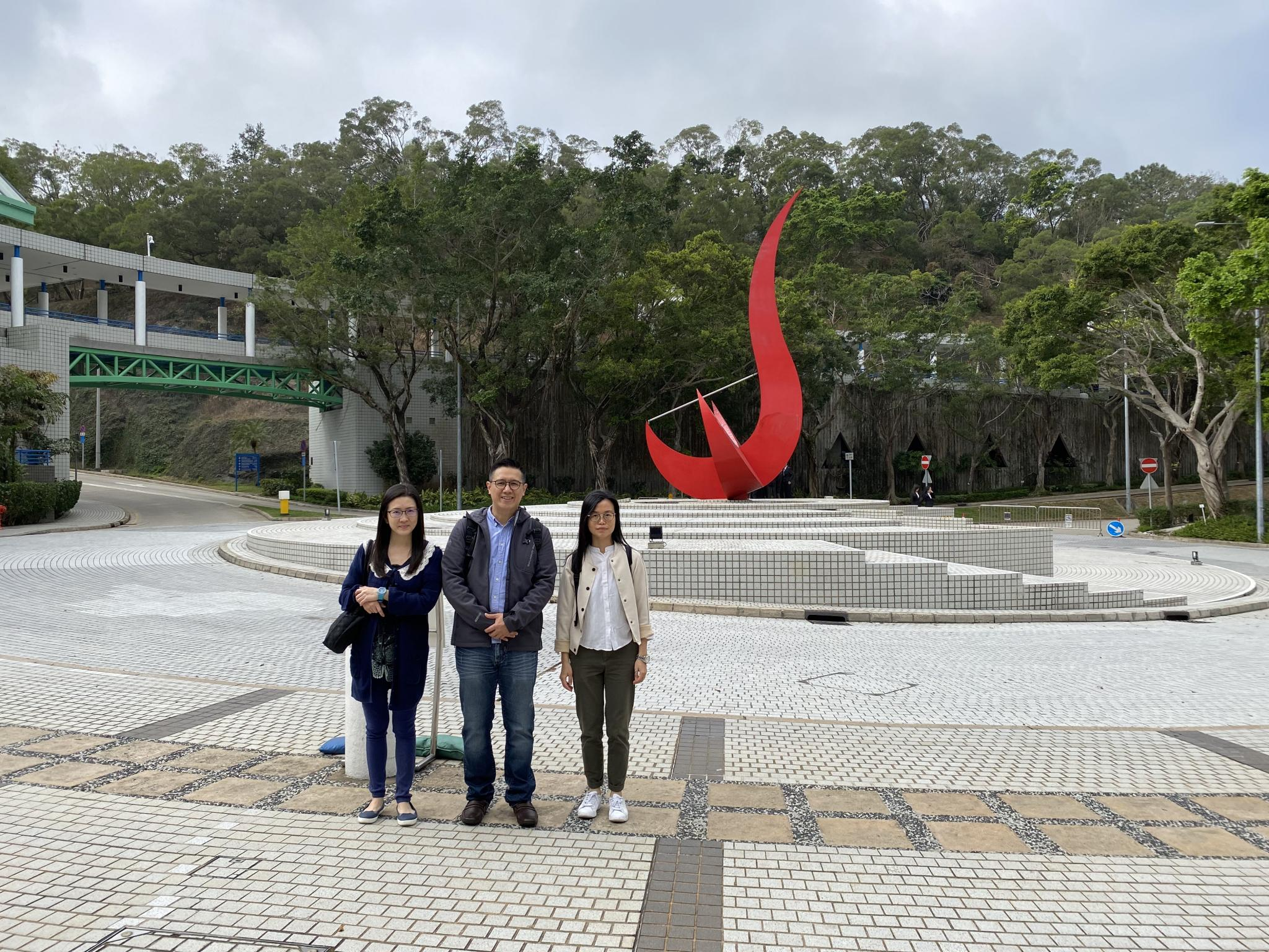 We arrived at the Hong Kong University of Science and Technology.