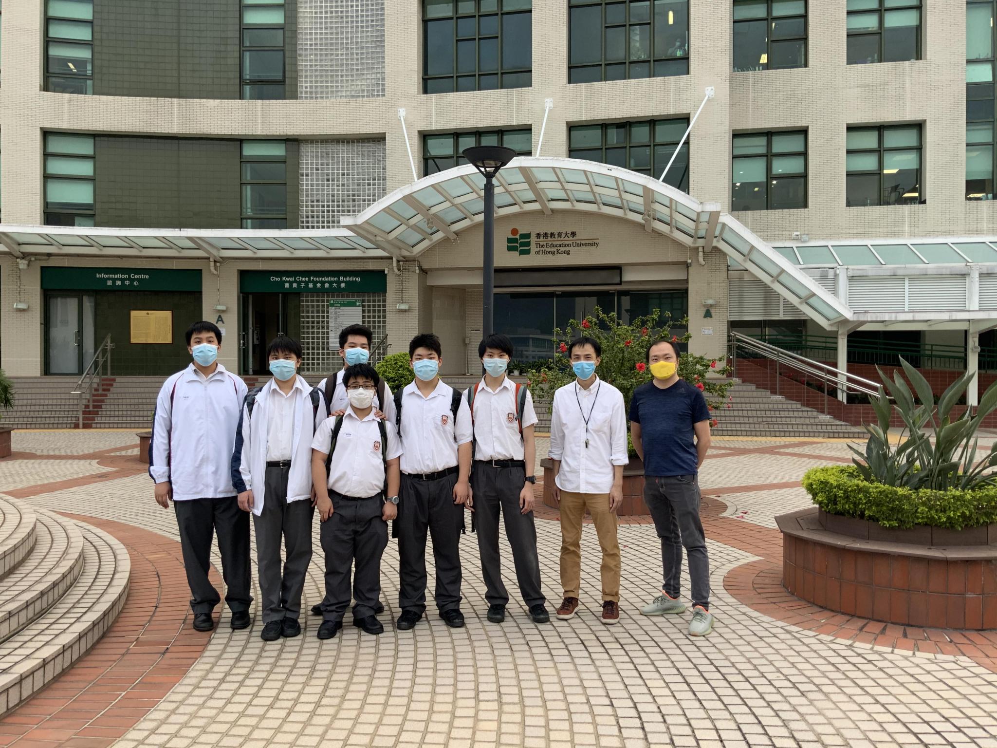 S.3 students visited the Education University of Hong Kong on 10 November 2020.
